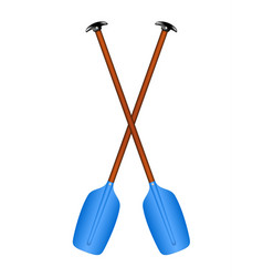 Two crossed paddles vector