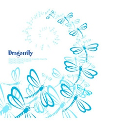 Abstract background with dragonfly vector