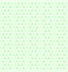 green striped shamrock pattern seamless clover vector image