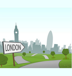 road to london vector image