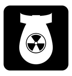 Bomb button vector image
