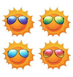Sun with shades vector
