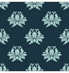Light and dark blue floral seamless pattern vector