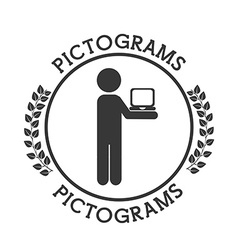 Pictograms human silhouettes vector