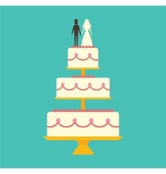 Wedding cake isolated on background vector
