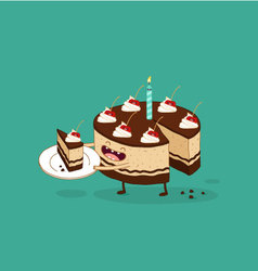 Happy birthday cake chocolate vector