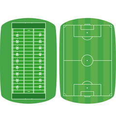Set sport fields vector