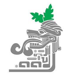 mayan idol vector image