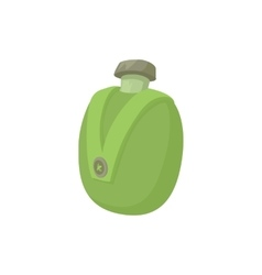 Camp water bottle icon cartoon style vector