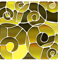 Abstract stained-glass mosaic background vector