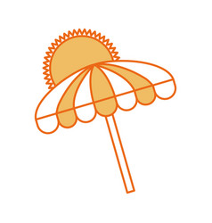 Beach umbrella summer with sun vector