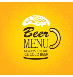 beer menu vector image
