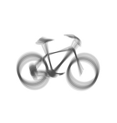Bicycle bike sign gray icon shaked at vector