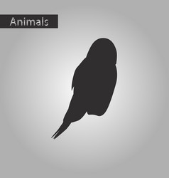 Black and white style icon of owl vector