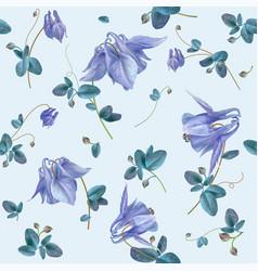 blue flower pattern vector image
