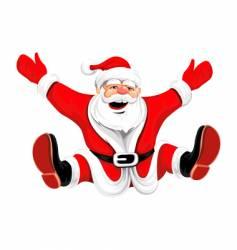 cartoon Santa vector image vector image