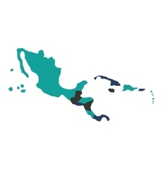 central american map isolated icon vector image vector image