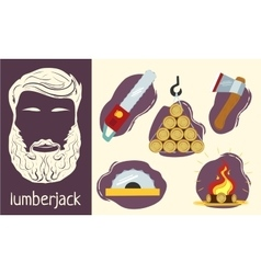 Characteristics of the lumberjack vector image