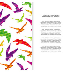 colorful birds silhouettes banner design vector image vector image