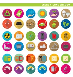Energy icons shadow vector