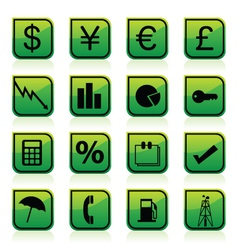 financial signs vector image
