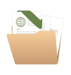 folder archives documents file vector image