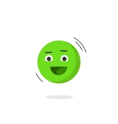 Happy smiling emotion icon isolated flat vector image vector image