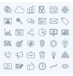 Line development icons vector