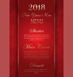 Luxurious elegant new years eve menu design vector
