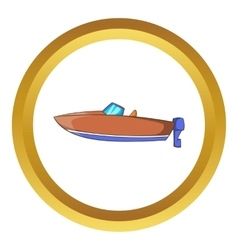 Motor boat icon vector