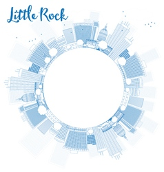 Outline little rock skyline vector