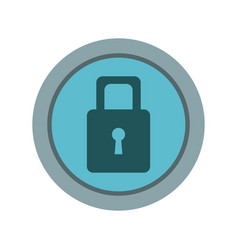 security protection padlock keyhole close symbol vector image