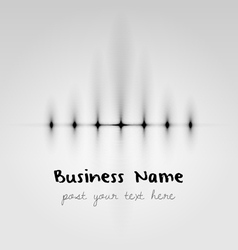 Stylish corporative business logo example vector image