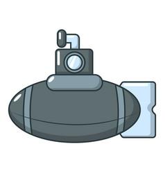 submarine ship icon cartoon style vector image vector image
