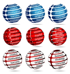success ball set vector image