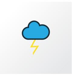 Thunderstroke colorful outline symbol premium vector