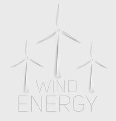 Wind turbine symbol green energy vector