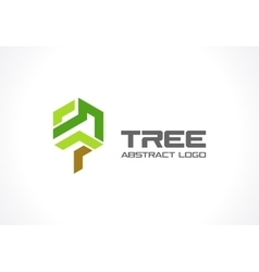 Abstract logo for business company eco green vector