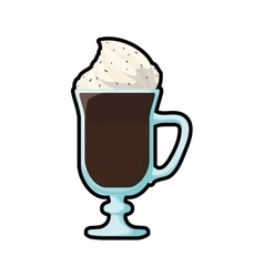 Chocolate drink glass sweet icon graphic vector