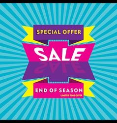 Big end of season sale banner design vector