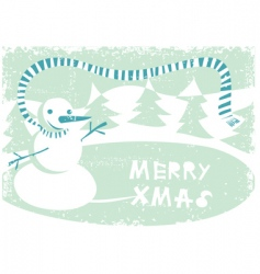 grunge winter card vector image