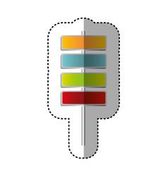 Color square route advices icon vector