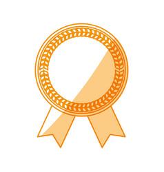 Blank award ribbon vector