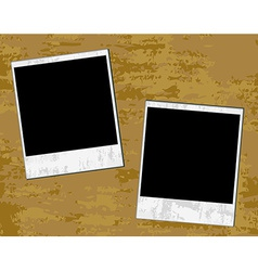 Vintage photos on a grungy background vector image
