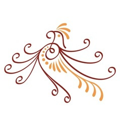 bird decorative vector image