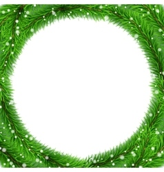 Christmas Tree Frame vector image