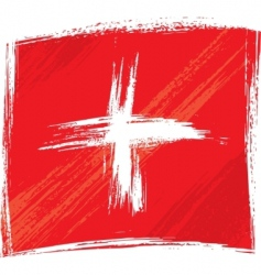 Grunge switzerland flag vector