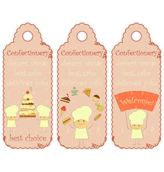 Confectionery labels in retro style vector