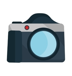 Photographic camera isolated flat icon vector