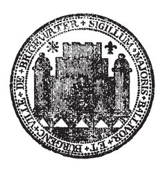 A seal representing the city of bridgewater vector
